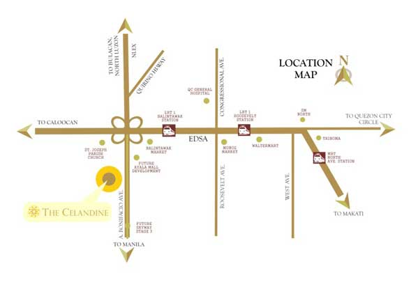 DMCI Celandine Location Map