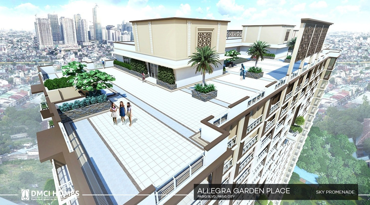 Spacious SKY PROMENADE at ALLEGRA buildings.