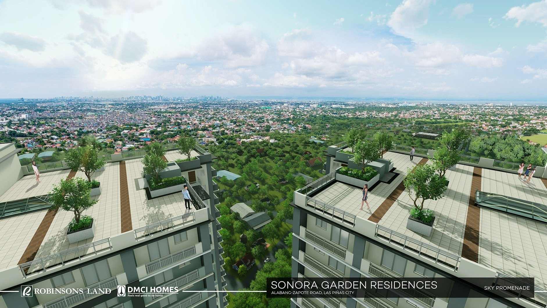 Spacious SKY PROMENADE at SONORA buildings.